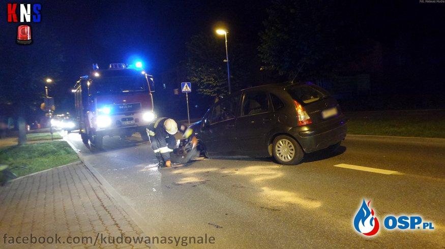 Wypadek na ul. Zdrojowej. OSP Ochotnicza Straż Pożarna