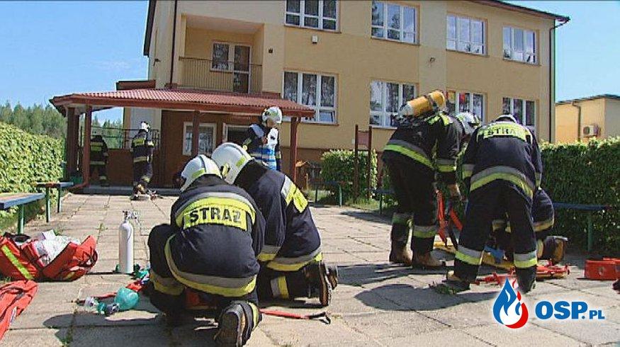 ĆWICZENIA NA OBIEKCIE SP W POGORZAŁKACH OSP Ochotnicza Straż Pożarna