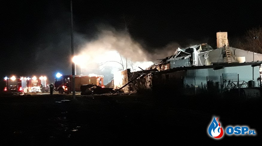 Pożar w Lipinach OSP Ochotnicza Straż Pożarna