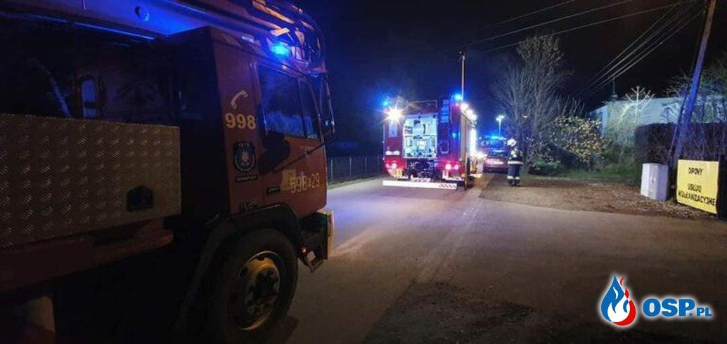 Nowa Wieś – pożar kotłowni OSP Ochotnicza Straż Pożarna