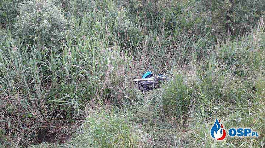 !!! Wypadek motocyklisty - poszukiwania !!! OSP Ochotnicza Straż Pożarna