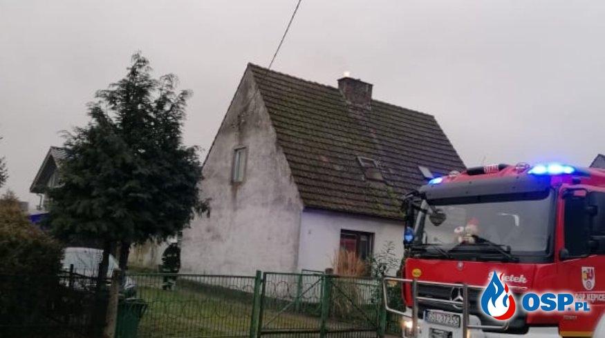 Pożar sadzy Kępice 24-01-2020r. OSP Ochotnicza Straż Pożarna