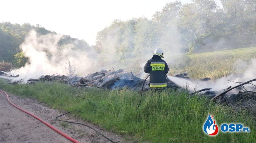 [Zdarzenie nr 5] Pożar sterty gałęzi w miejscowości Morzewo OSP Ochotnicza Straż Pożarna