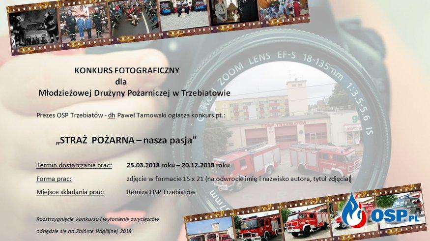 Konkurs Fotograficzny dla MDP OSP Ochotnicza Straż Pożarna