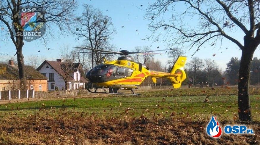 Pacjent potrzebował pomocy LPR OSP Ochotnicza Straż Pożarna
