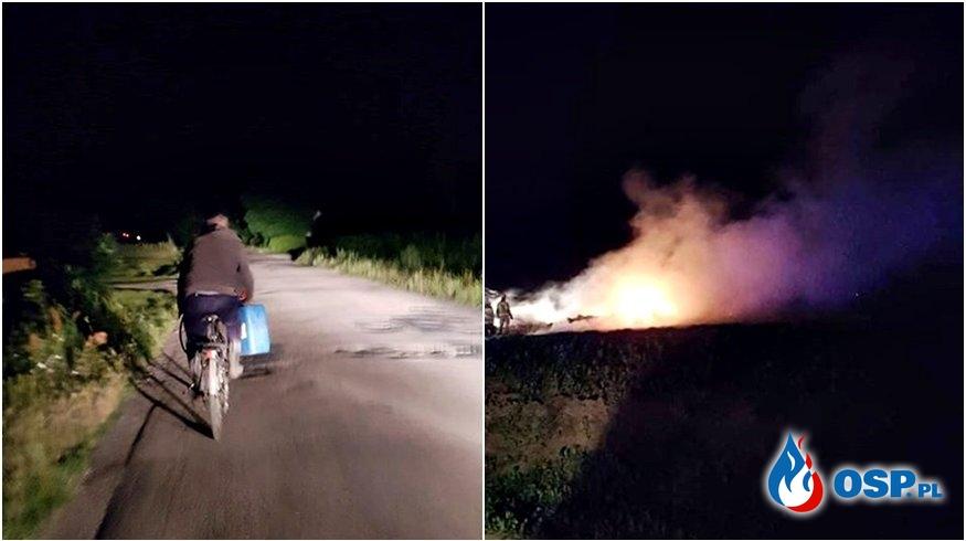 Strażacy z OSP Brwilno jadąc do pożaru zatrzymali podpalacza OSP Ochotnicza Straż Pożarna