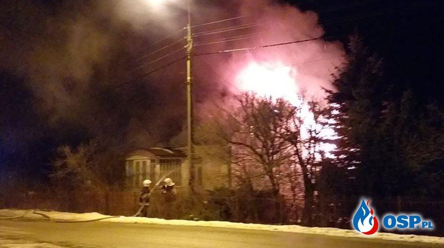 01.02.2019 - Pożar domu w Mroczkowie OSP Ochotnicza Straż Pożarna