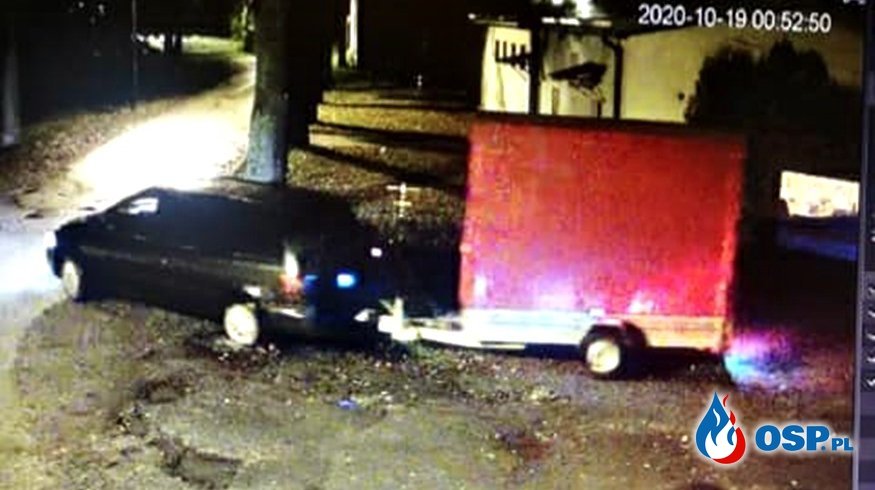 Złodzieje ukradli przyczepkę strażaków z OSP Łódź Mikołajew. Druhowie apelują o czujność. OSP Ochotnicza Straż Pożarna