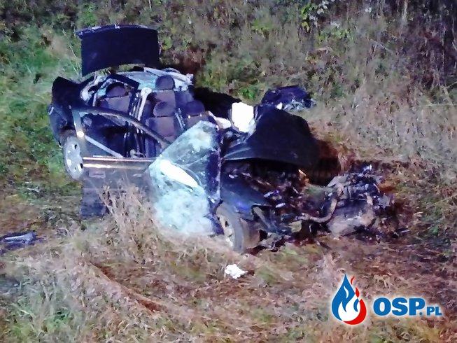 Śmiertelny wypadek na DK 8 OSP Ochotnicza Straż Pożarna