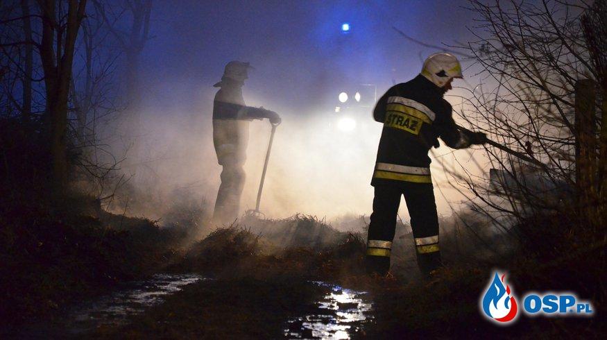 Brzeźce- pożar stodoły OSP Ochotnicza Straż Pożarna