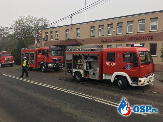 Ćwiczenia powiatowe w Urzędzie Gminy Ostrowite OSP Ochotnicza Straż Pożarna