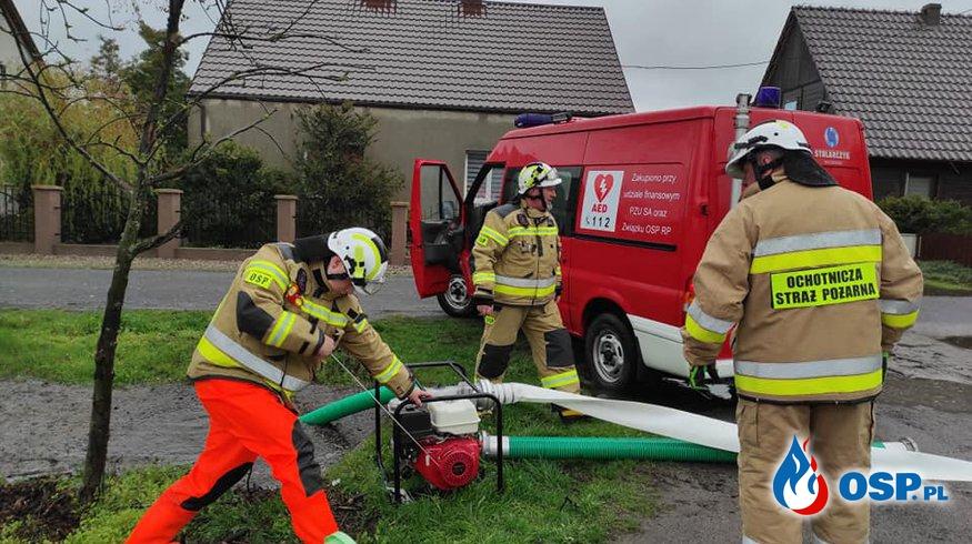 Podtopienia w Gminie Miłosław OSP Ochotnicza Straż Pożarna