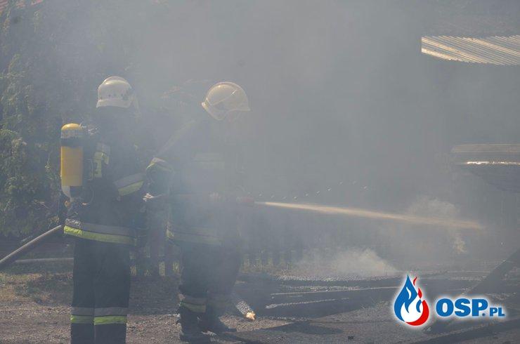 Pożar wypożyczalni w Przyjezierzu OSP Ochotnicza Straż Pożarna