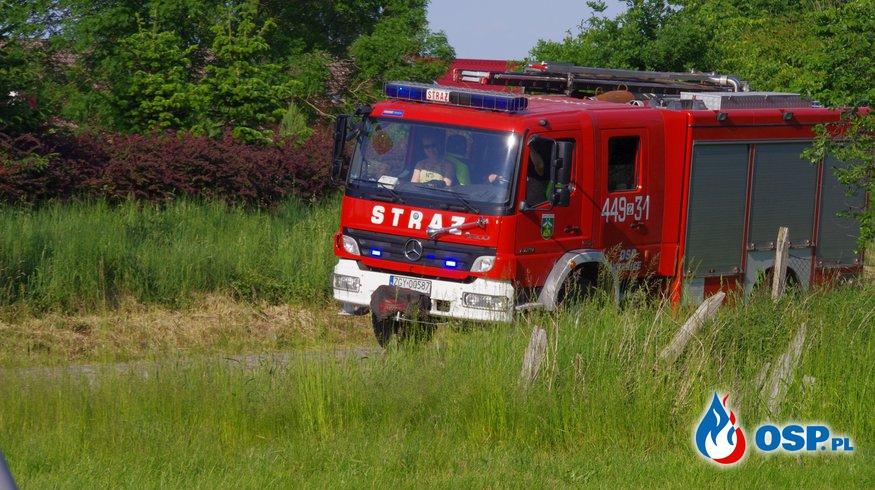 13-06-18 godz. 18:40 ognisko powodem alarmu OSP Ochotnicza Straż Pożarna