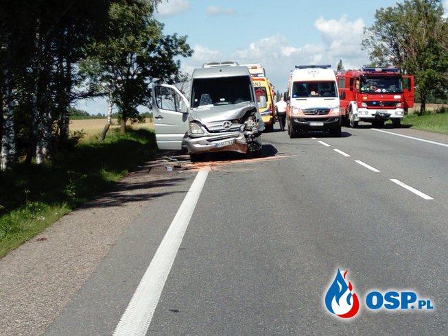 Wypadek na DK 8 OSP Ochotnicza Straż Pożarna