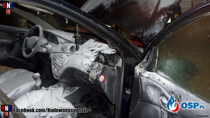 Pożar samochodu w Kudowie Zdrój OSP Ochotnicza Straż Pożarna