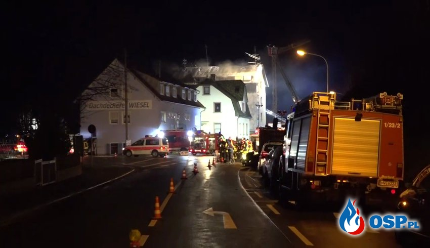 Czterech Polaków zginęło w pożarze mieszkania w Niemczech OSP Ochotnicza Straż Pożarna