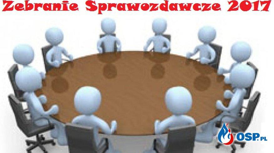Zebranie Sprawozdawcze 2017 OSP Ochotnicza Straż Pożarna
