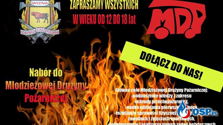 Nabór do Młodzieżowej Drużyny Pożarniczej OSP Ochotnicza Straż Pożarna