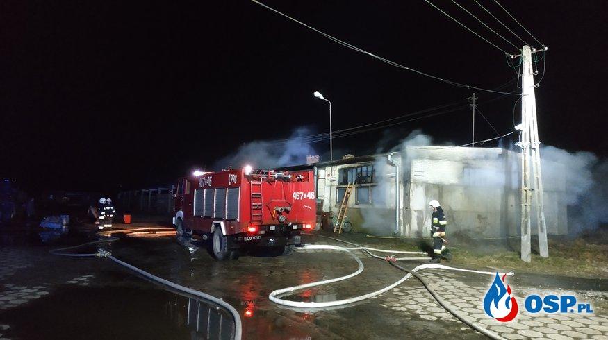 Pożar budynku gospodarczego Klecewo 2019 OSP Ochotnicza Straż Pożarna