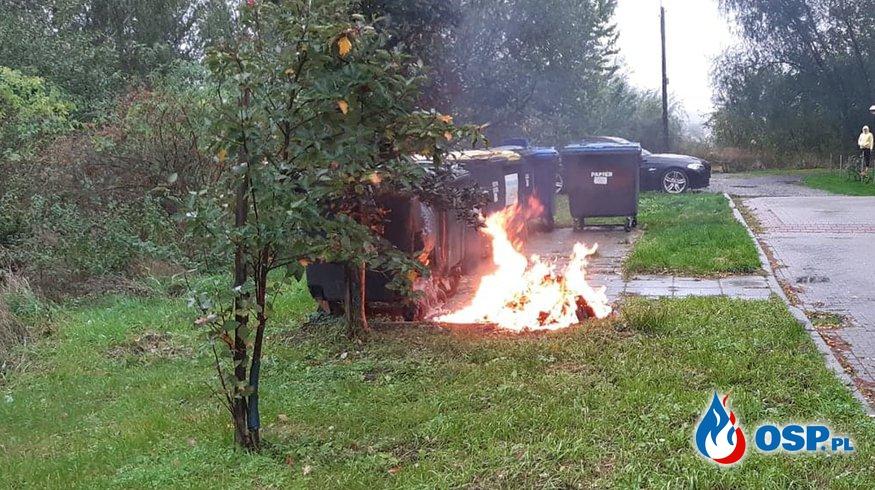 189/2020 Pożar śmietnika na Lotnisku OSP Ochotnicza Straż Pożarna