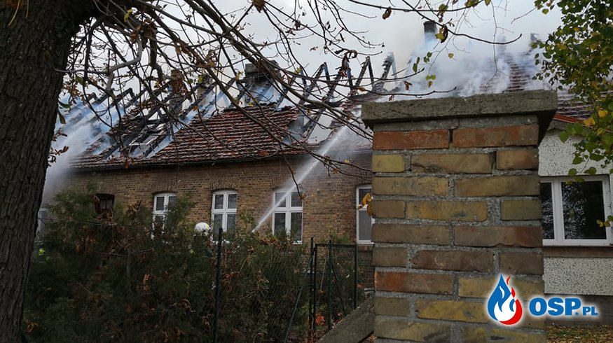 Pomoc w odbudowie domu na święta OSP Ochotnicza Straż Pożarna