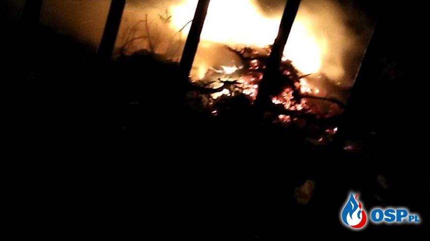 Pożar śmieci w miejscowości Chrostkowo! OSP Ochotnicza Straż Pożarna