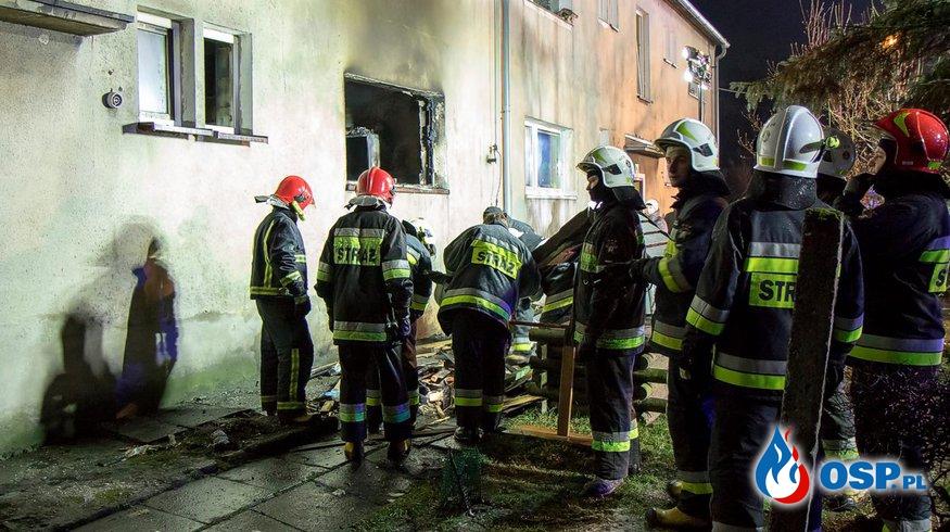 Wybuch gazu w budynku wielorodzinnym w Gierałcicach OSP Ochotnicza Straż Pożarna