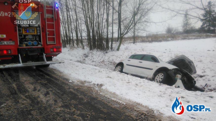 Zdarzenia drogowe przy trudnych warunkach OSP Ochotnicza Straż Pożarna