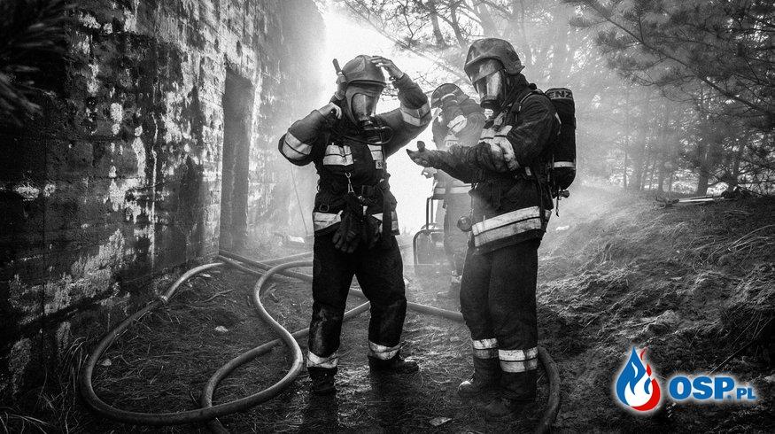 Pożar śmietnika OSP Ochotnicza Straż Pożarna