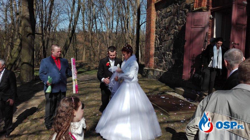 Ślub strażaka. OSP Ochotnicza Straż Pożarna