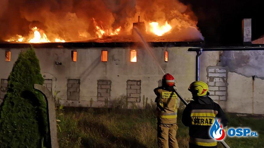 Nocny pożar budynku w Gogolinie OSP Ochotnicza Straż Pożarna