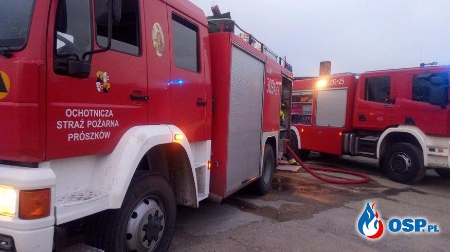 Pożar stodoły w Boguszycach. OSP Ochotnicza Straż Pożarna