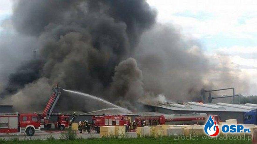 Pożar zakładu meblowego Mroczeń OSP Ochotnicza Straż Pożarna
