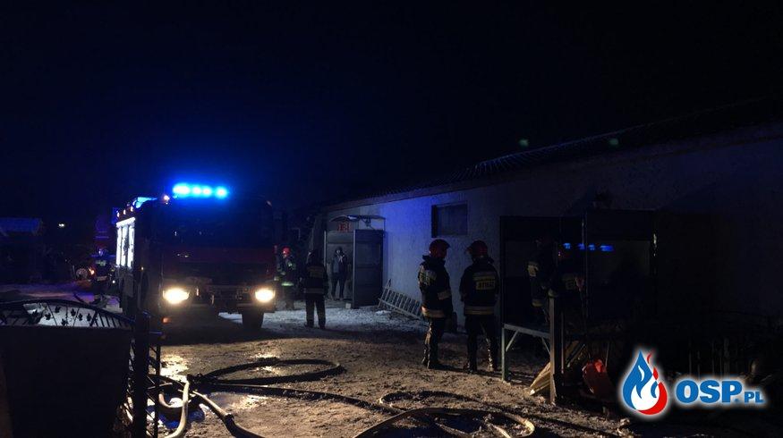 Groźny pożar w Rzeszotarach OSP Ochotnicza Straż Pożarna