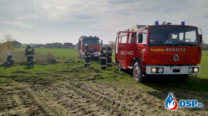 Słupia pod Bralinem - pożar trawy OSP Ochotnicza Straż Pożarna