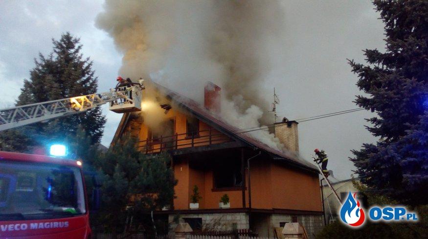 Pożar budynku mieszkalnego w Wasilkowie OSP Ochotnicza Straż Pożarna
