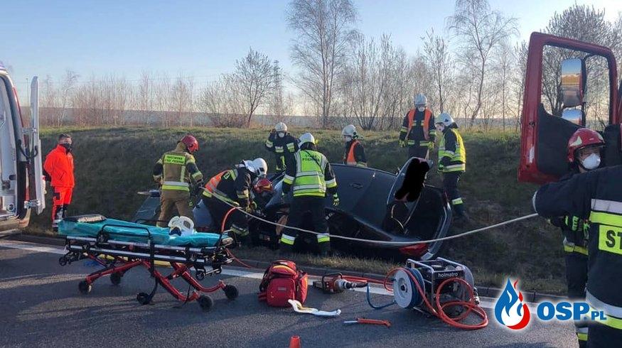 Wypadek DK-75 OSP Ochotnicza Straż Pożarna