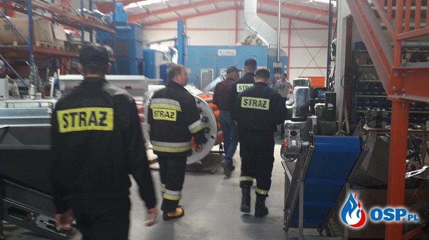 Ćwiczenia na obiekcie OSP Ochotnicza Straż Pożarna