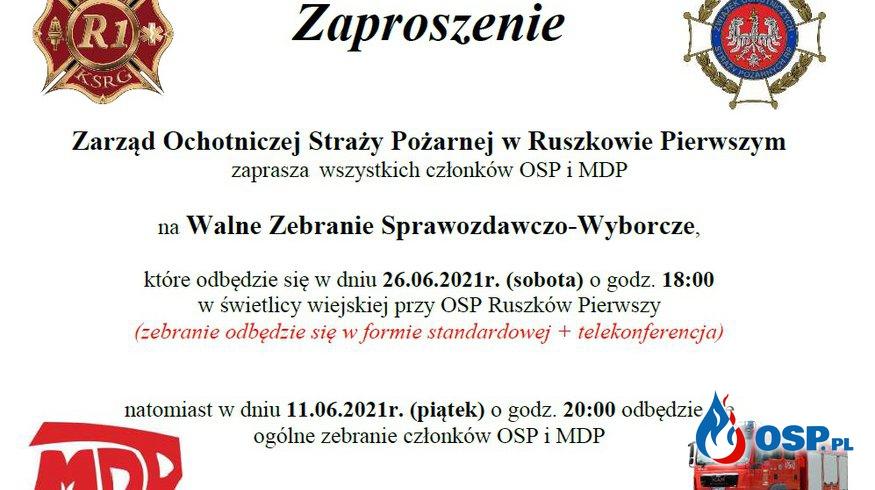 Zebranie Walne Sprawozdawczo-Wyborcze OSP Ochotnicza Straż Pożarna