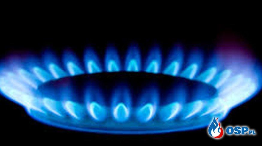 Gaz na klatce schodowej OSP Ochotnicza Straż Pożarna