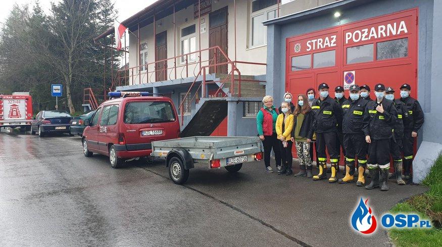 Sprzątanie naszej miejscowości. OSP Ochotnicza Straż Pożarna