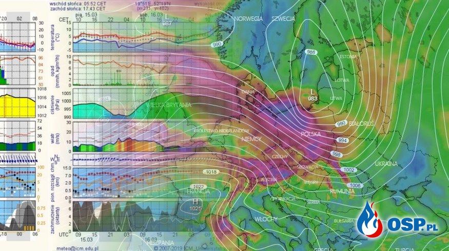 Meteorolodzy ponownie ostrzegają przed silnym wiatrem OSP Ochotnicza Straż Pożarna