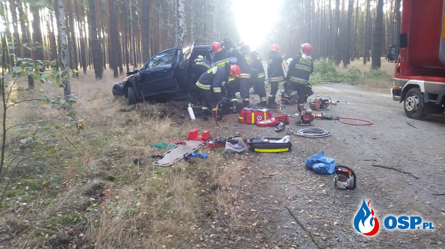 Tragiczny wypadek drogowy Bytnica-Głębokie 16.09.2018 OSP Ochotnicza Straż Pożarna