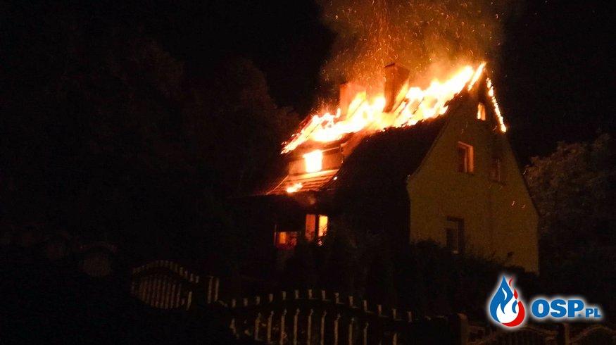 Templewo - Mężczyzna zginął w pożarze domu. OSP Ochotnicza Straż Pożarna