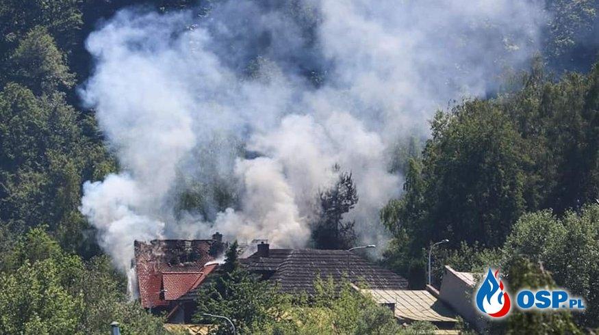 Strażak ranny podczas akcji gaśniczej w Głuchołazach OSP Ochotnicza Straż Pożarna
