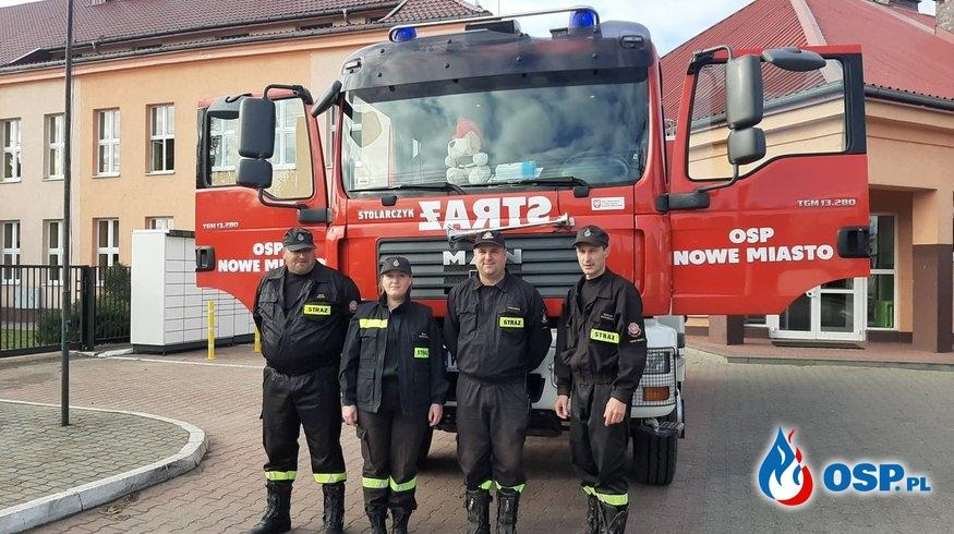 Próbna ewakuacja szkoły Nowe Miasto OSP Ochotnicza Straż Pożarna