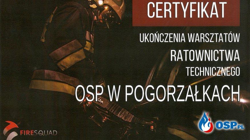 WARSZTATY RATOWNICTWA TECHNICZNEGO W JUROWCACH OSP Ochotnicza Straż Pożarna