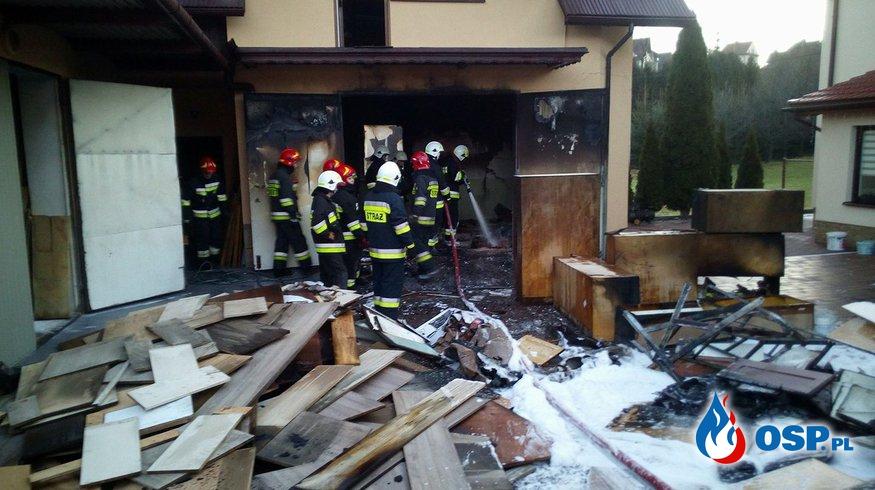 Pożar w zakładzie stolarskim OSP Ochotnicza Straż Pożarna