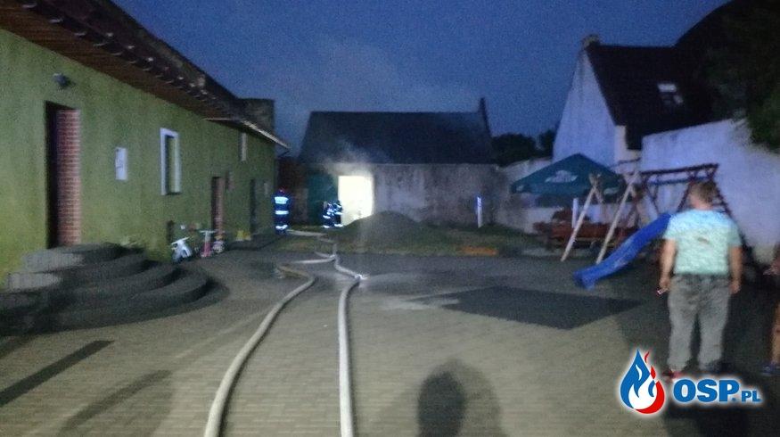Pożar stodoły OSP Ochotnicza Straż Pożarna